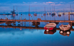 Pier and Sailboats Royalty Free Stock Images