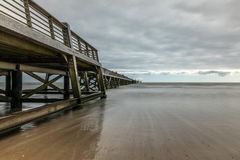 Pier of Saint Jean de Monts Vendee, France Stock Photography