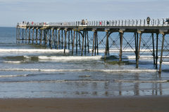 Pier at Saltburn. Stock Image