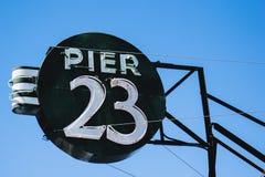 Pier 23 San Francisco stockbild