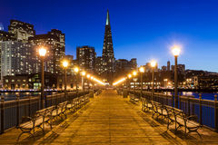 Pier 7 in San Francisco. At night Stock Images