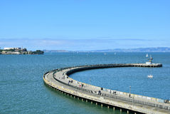 Pier in San Francisco. People walking on a pier in San Francisco Royalty Free Stock Photo