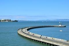 Pier in San Francisco. People walking on a pier in San Francisco royalty free stock photo