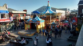 Pier 39 San Francisco. Summer in Pier 39 Attractions Stock Photography