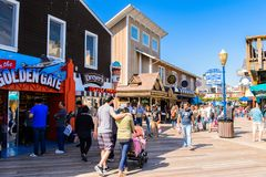 Pier 39 of San Francisco Stock Photography
