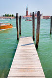 Pier on San Marco Canal, Venice Royalty Free Stock Image