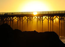 Pier in San Simeon, California, near Hearst Castle, USA Stock Photos