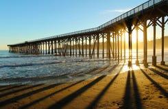 Pier in San Simeon, California, near Hearst Castle, USA Stock Photo