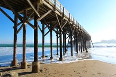 Pier in San Simeon, California, near Hearst Castle, USA Royalty Free Stock Image