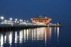 Pier in Sankt Petersburt at night Stock Photo