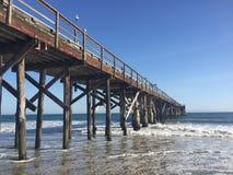 Pier in Santa Barbara Stockbild