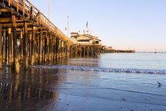 Pier in Santa Barbara Stockbilder