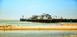 Pier of Santa Barbara. In California stock image