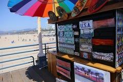 The pier on Santa Monica beach, California Royalty Free Stock Image