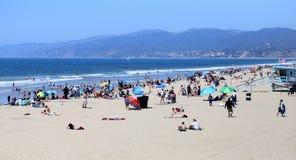 The pier on Santa Monica beach, California Royalty Free Stock Photos