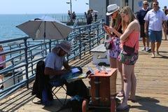 The pier on Santa Monica beach, California Royalty Free Stock Images