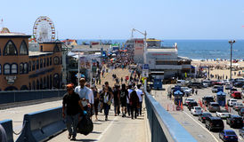 The pier on Santa Monica beach, California Royalty Free Stock Image