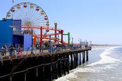 The pier on Santa Monica beach, California Stock Photo