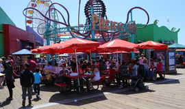 The pier on Santa Monica beach, California Royalty Free Stock Photo
