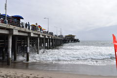 Pier Santa Monica. View of Pier Santa Monica, CA Stock Photography