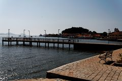 Pier in Sao Francisco do Sul Royalty Free Stock Photos