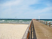 Pier of Scharbeutz, baltic sea, germany Royalty Free Stock Photography