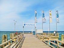Pier of Scharbeutz, baltic sea, germany Stock Photo