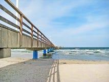 Pier of Scharbeutz, baltic sea, germany Royalty Free Stock Photos
