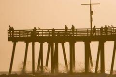 Pier-Schattenbild stockbild