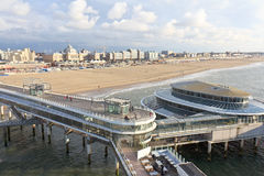 The Pier at Scheveningen. View of the Pier with its restaurants and casino at Scheveningen, Netherlands Stock Photography