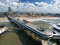 Pier in Scheveningen Royalty Free Stock Image