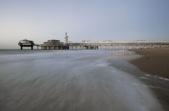 Pier on Scheveningen beach in Hague Stock Photos