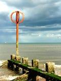 Pier, schottischer Strand Stockbilder