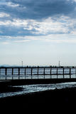 Pier and sea Stock Image