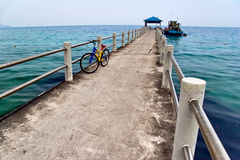 Pier in the sea Royalty Free Stock Image