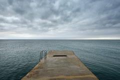 Pier on the sea Stock Photo