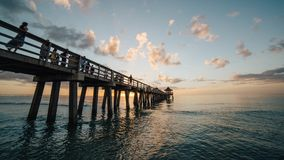 Pier on Sea Against Cloudy Sky Royalty Free Stock Photography