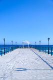 Pier in the Sea Royalty Free Stock Images