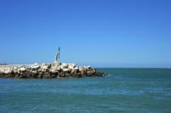 A pier in the sea bay of Cadiz. CADIZ, SPAIN - JULY 8, 2011: A pier in the sea bay of Cadiz Stock Photos