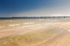 Pier at the sea / landscape / Ahlbeck in Germany royalty free stock photo
