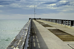 Pier and sea Royalty Free Stock Photo