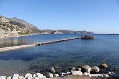 Pier and sea Stock Photo