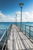 Pier at the sea Stock Photos