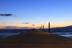 Pier in the sea Stock Photography
