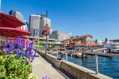 Pier 55 in Seattle Stock Photo