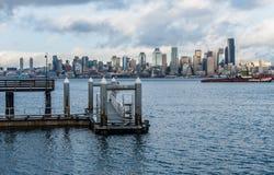 Pier And Seattle Skyline 2 Imagen de archivo libre de regalías