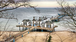 The Pier of Sellin at the Baltic Coast Stock Image