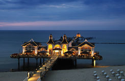 Pier Sellin at Blue Hour Royalty Free Stock Image