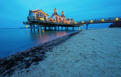 The pier of Sellin at dawn Royalty Free Stock Photo