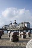 Pier of Sellin on Rügen, Gemany Royalty Free Stock Photo